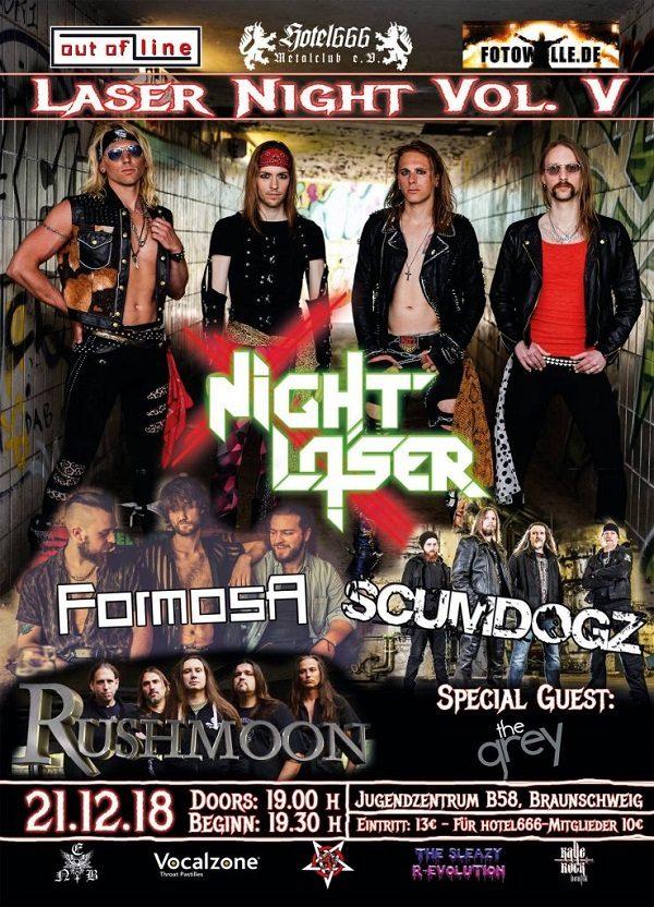 Rockcity - Plakat Laser Night V - Foto: Veranstalter