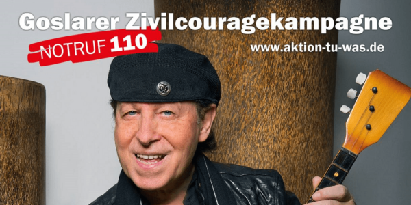 Zivilcouragekampagne - Klaus Meine; Plakatfoto Heike Göttert (Photogeno) Grafik: Thomas Velte