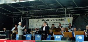 Günther Wittrin, und die PTB-Bigband - Foto: Archiv Klaus Wogram