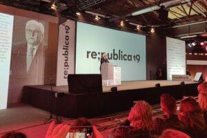Bundespräsident Walter Steinmeier auf der re;publica - Foto: Hörster
