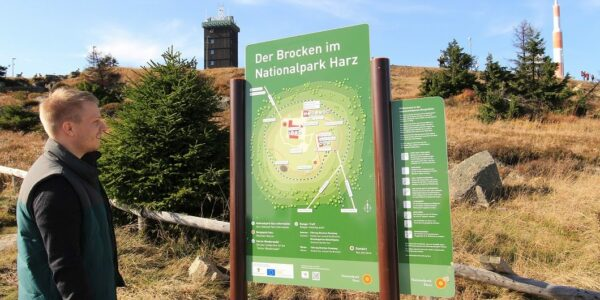 Brocken-Übersichtstafel - Foto: (c) Frank Steingass