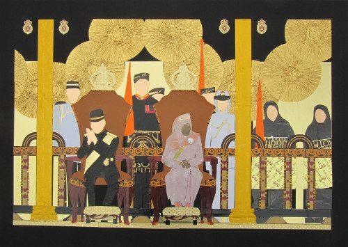 Papier-Collagen von Bernhardine Bahri - Bild: Veranstalter